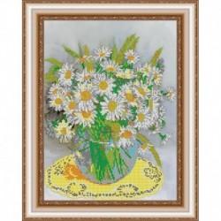 «Светлица» набор для вышивания бисером №395 «Любимые цветы» бисер Чехия 30x24см