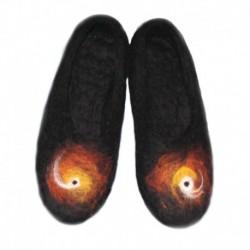 Войлочные тапочки «Космическая коллекция» Звездный подсолнух. Размер 37