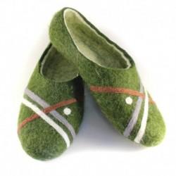 Войлочные тапочки Гольф зеленые. Размер 40