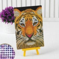 Алмазная вышивка на подставке «Тигр», 13x19 см