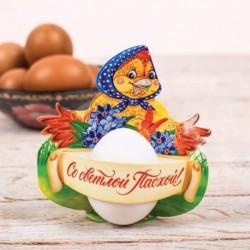 Пасхальная открытка-держатель для яйца «Курочка»