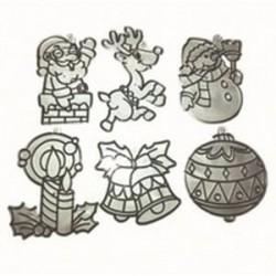 Набор мини-витражей 'Дед Мороз'