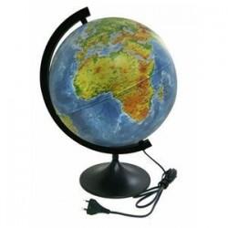 Глобус Земли физико-политический d320, подсветка (К013200101)