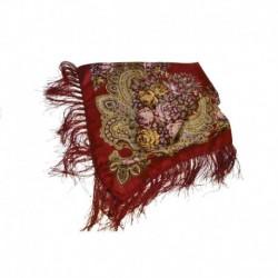 Платок павлопосадский , размер 115х115, красный