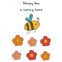 Блокнот для записей 'Sleepy bee is coming home'
