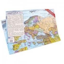 Пазл географический Карта Европы