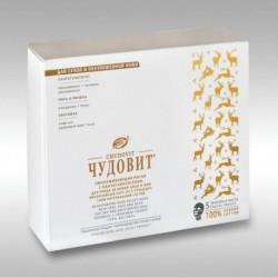 ЧУДОВИТ, омолаживающая маска для ухода за кожей лица и шеи (д/сухой и обезвоженной кожи), 5 саше-пакетиков по 3г + 5