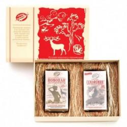 Подарочный набор «Обаятельная и привлекательная» (женский): Гемафемин 180 кап. Новопан №3 90 кап. подарочная коробка