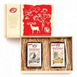 Подарочный набор «Любви целительная сила» (д/семейной пары): Гемафемин 180 кап. Маранол 120 кап. подарочная коробка