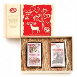 Подарочный набор «Счастливой маме» (для молодой мамы): Гемафемин 180 кап. Феррогем 56 кап. подарочная коробка