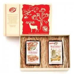 Подарочный набор «Родные сердца» (для родителей): Маранол 120 кап. Гемахол 84 кап. подарочная коробка.