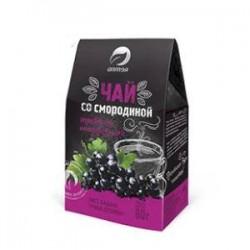 Чай травяной чай С черной смородиной 80гр (смородина, бадан, душица)