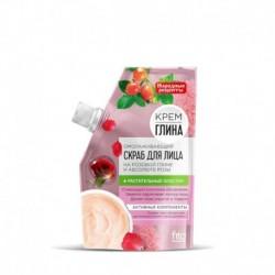Крем-скраб для лица омолаживающий 50мл (дой-пак) с розовой глиной и абсолюте розы