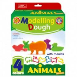 Масса для лепки 'Животные' (тесто 4 цвета по 30 г)