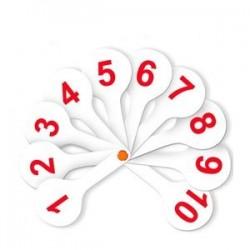 Веер-касса 'Цифры от 1 до 20. Прямой и обратный счет'