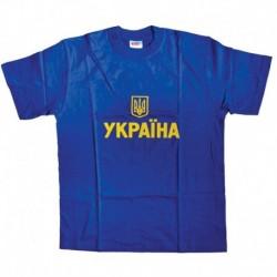 Футболка мужская, синяя. УКРАИНА. Размер S