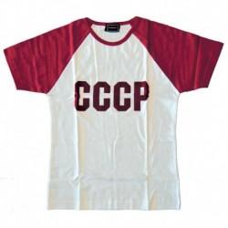 Футболка женская СССР (белая, с красными рукавами) размер L