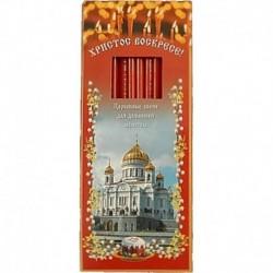 Набор свечей для домашней молитвы красные 12 шт