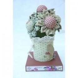 Цветочное саше 1. Ароматизированный цветок (бежевый)