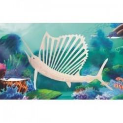 Сборная деревянная модель 'Рыба-парус' (Н014)