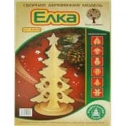 Сборная деревянная модель 'Новогодняя елка' (80021)
