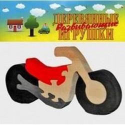 Мотоцикл. Деревянный пазл-конструктор