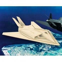 Самолет F117. Сборная деревянная модель.