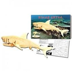 Белая акула. Сборная деревянная модель.