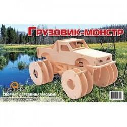 Сборная деревянная модель 'Грузовик-монстр'