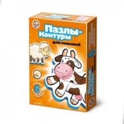 Пазлы-контуры для малышей. 6 забавных домашних животных