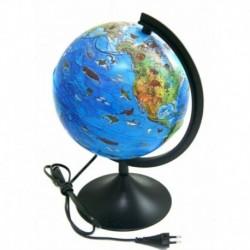 Глобус детский зоогеографический, с подсветкой, 210 мм. К012100206. К012100206