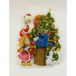 Украшение новогоднее, оконное 'Почта Деда Мороза'