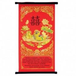 Панно Фен-шуй для привлечения любви 'Уточки-мандаринки', 20x40 см