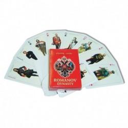 Карты игральные 'Императоры России' красные 55 листов