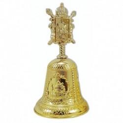 Колокольчик металлический верх-фигурка 'Герб Москвы' (цвет - золото), 10 см