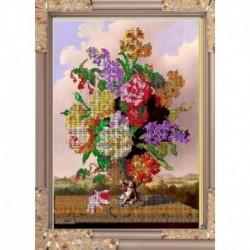 Набор для вышивания бисером К-331 24х30 'Садовые цветы'