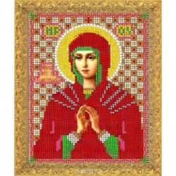 Набор для вышивания бисером 11,8х15,7 см , 737ОМ ' Пресвятая Богородица ' Семистрельная'