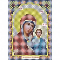 Набор для вышивания бисером ММН-072 , 8х11см. Пресвятая Богородица ' Казанская'