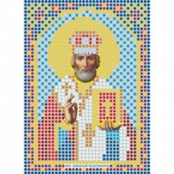 Набор для вышивания бисером ММ-032 , 8х11см . ' Святитель Николай Чудотворец'