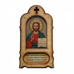 Икона-магнит с подставкой «Спас вседержитель», 14х7см