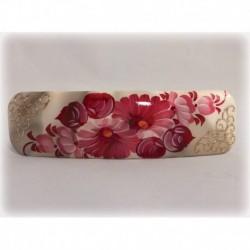 Заколка для волос (10х3см) цвет белый-розовый тип 2 рис 3