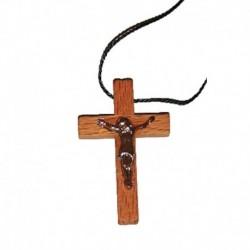 Деревянный крестик с распятием