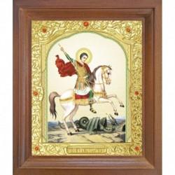 Икона Святой Георгий Победоносец. 10x12