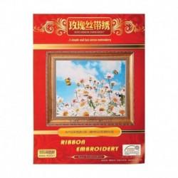 Набор для вышивания лентами 'Ромашки в поле' размер основы 50x45 см