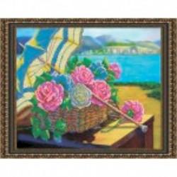 Набор для вышивания бисером «Летний пейзаж» 48x38 см