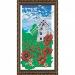 Набор для вышивания бисером «Мельница» 21,4x38,7 см