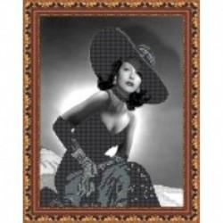Набор для вышивания бисером «Сеньорита» 19x22 см
