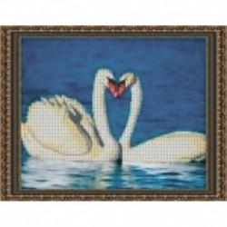 Набор для вышивания бисером «Лебеди» 38x30 см