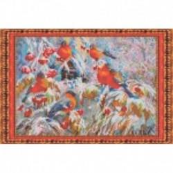 Набор для вышивания бисером «Снегири» 39,7x33,2 см
