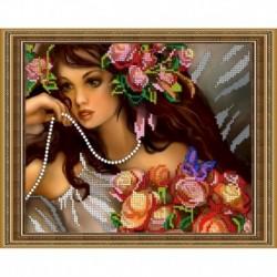 Набор для вышивания бисером «Нежная фея» 24x19 см